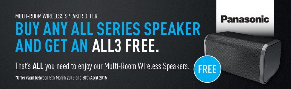 Buy any ALL Series Speaker and get a ALL3 Series Speaker in Black Free