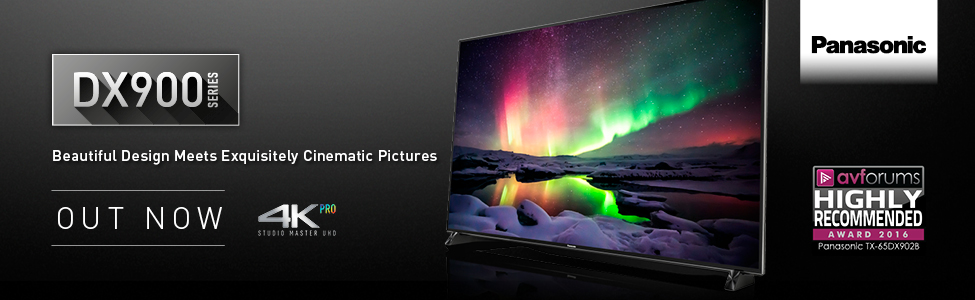 DX900 series TV from Panasonic - out now