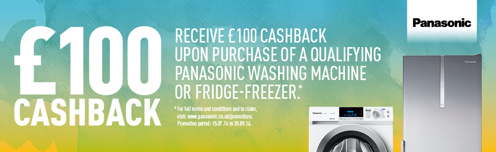 Laundry and refrigeration summer cashback campaign