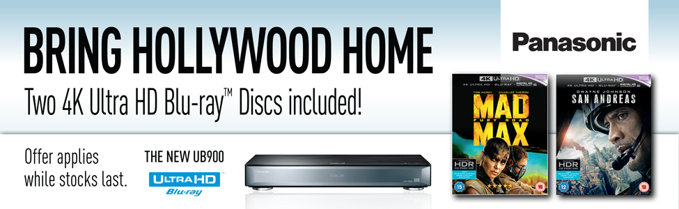 Bring Hollywood Home with 2 free 4K Ultra HD Blu-ray Discs